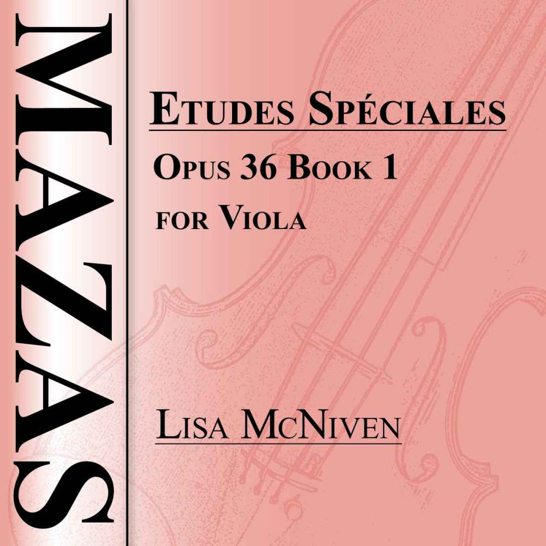 Mazas Etudes Speciales Opus 36 Book 1 for Viola, audio CD MP3 recording