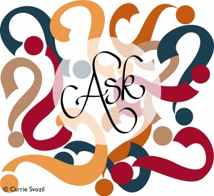 Ask illustration by Carrie Svozil for ABC's of Learning Beyond School Book