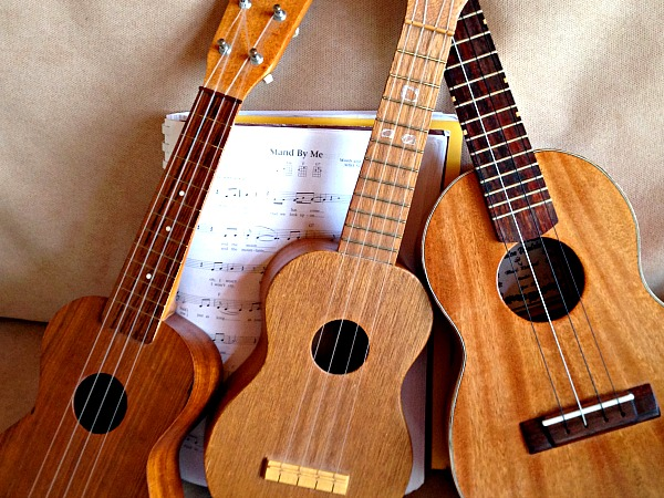 .I can't Learn One More thing, The Power of Passion and Support. www.LisaNalbone.com  original photo of three ukuleles learning together above the music Stand By Me.