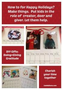 DIY GIfts: Doing + GIving = Gratitude, Saving the budget & Making Memories at LisaNalbone.com