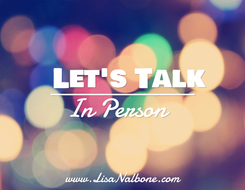 Let's talk in Person www.lisanalbone.com