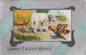 1909 Easter postcard, front