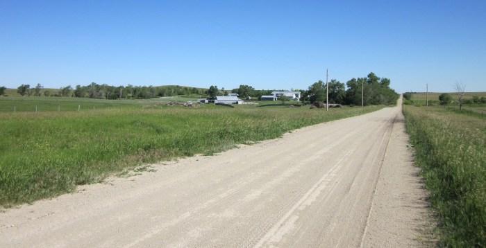 Road to family farm
