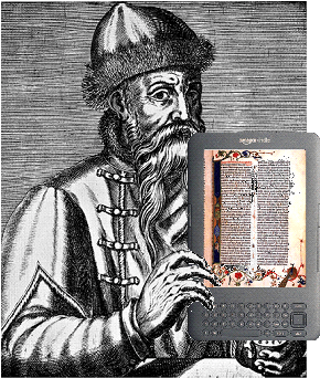 Gutenberg with Kindle