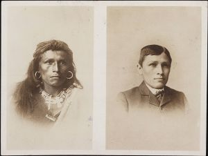 """Tom Torlino, Navajo, before and after"""