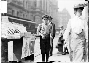Chicago newsboy, 1904