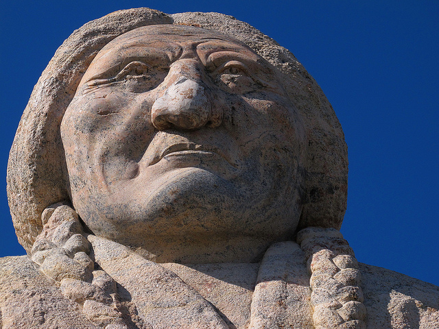 Sitting Bull Monument, close
