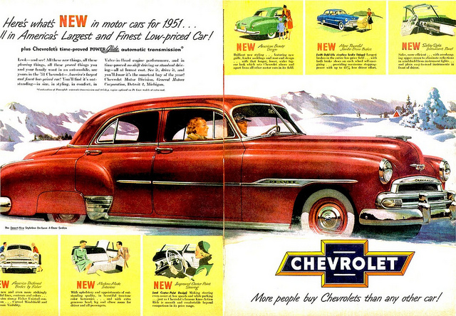1951 Chevrolet Styleline 4-Door Sedan, photo by Alden Jewell (CC BY 2.0)
