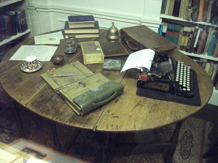 Joseph Conrad's writing desk and typewriter, by Ben Sutherland