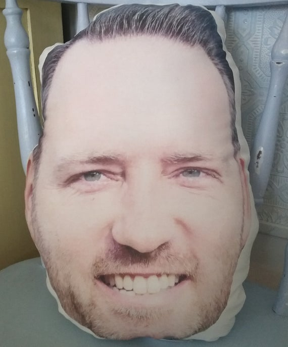custom funny face pillow made from your photo funny gag gift