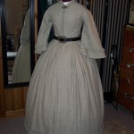 1860s checked linen dress