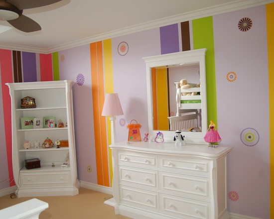 Stencils Stripes Swarovski Crystals Child Bedroom And Bath (Detroit)
