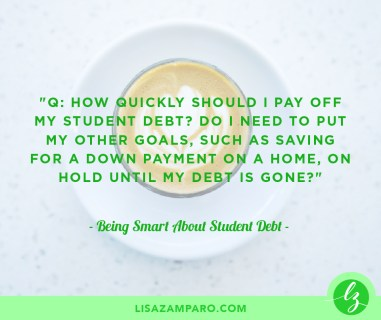 Being Smart About Student Debt
