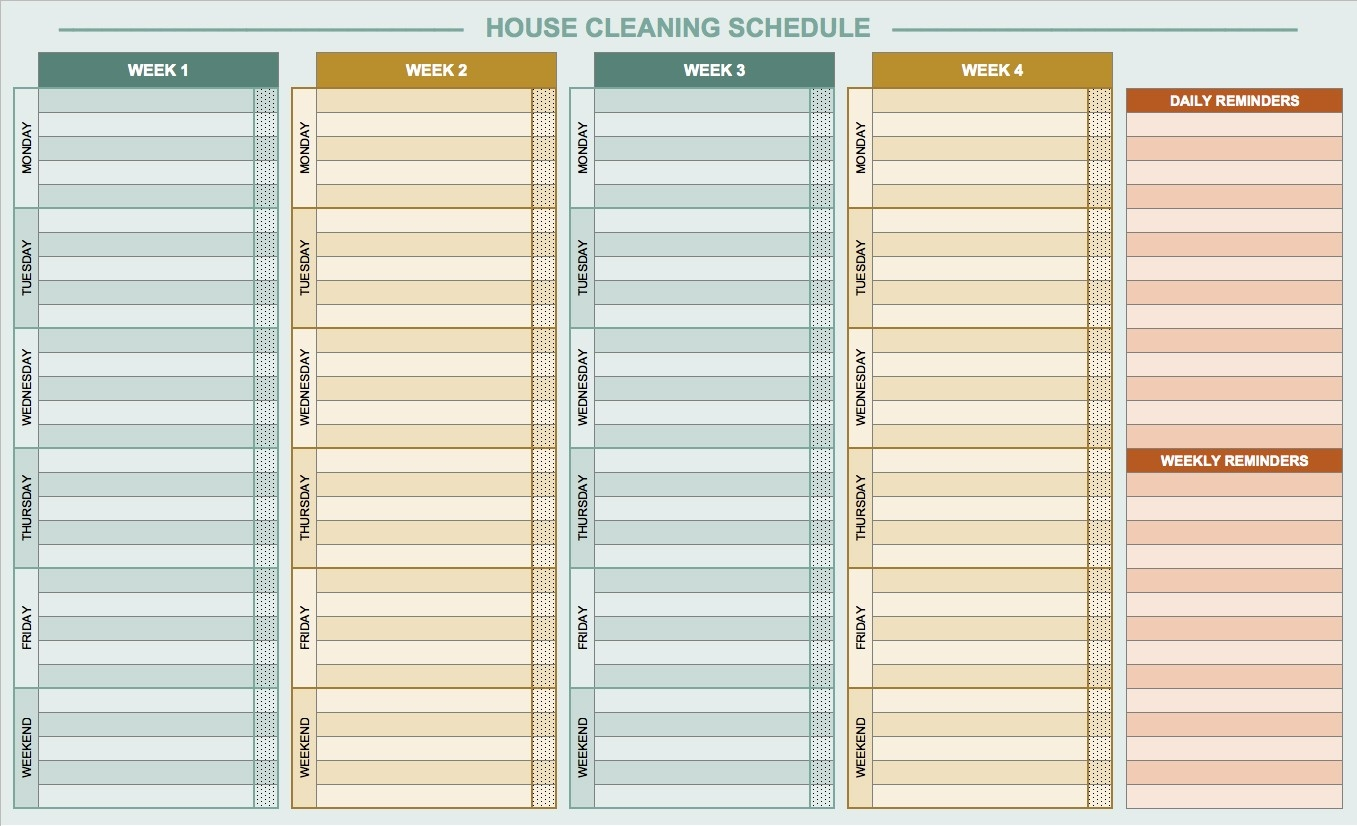 Daily Routine Checklist Template