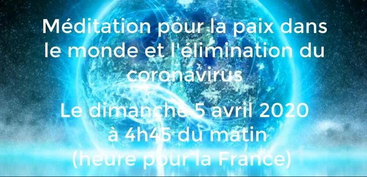 Méditation mondiale pour l'élimination du coronavirus le 5 avril 2020