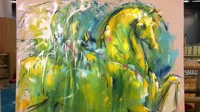 Peinture de LiSKa LLoRCa au Samon du cheval 2018