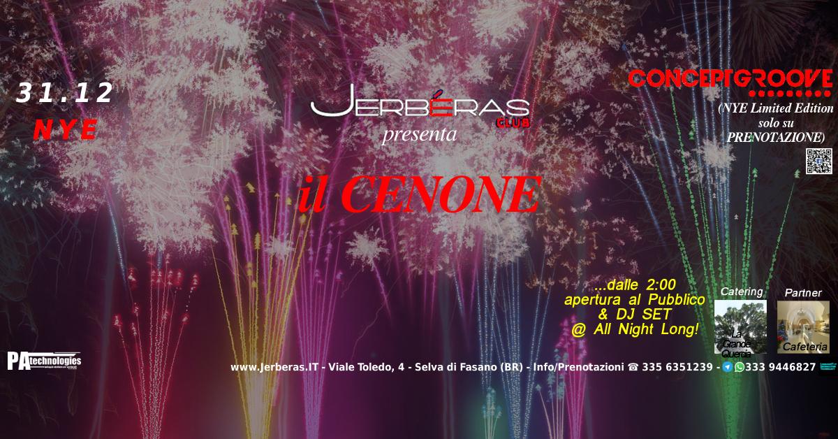 31.12 #Cenone #ConceptGroove & #NYE 2016 w/ S.Silvestro & Resident @Jerberas Club
