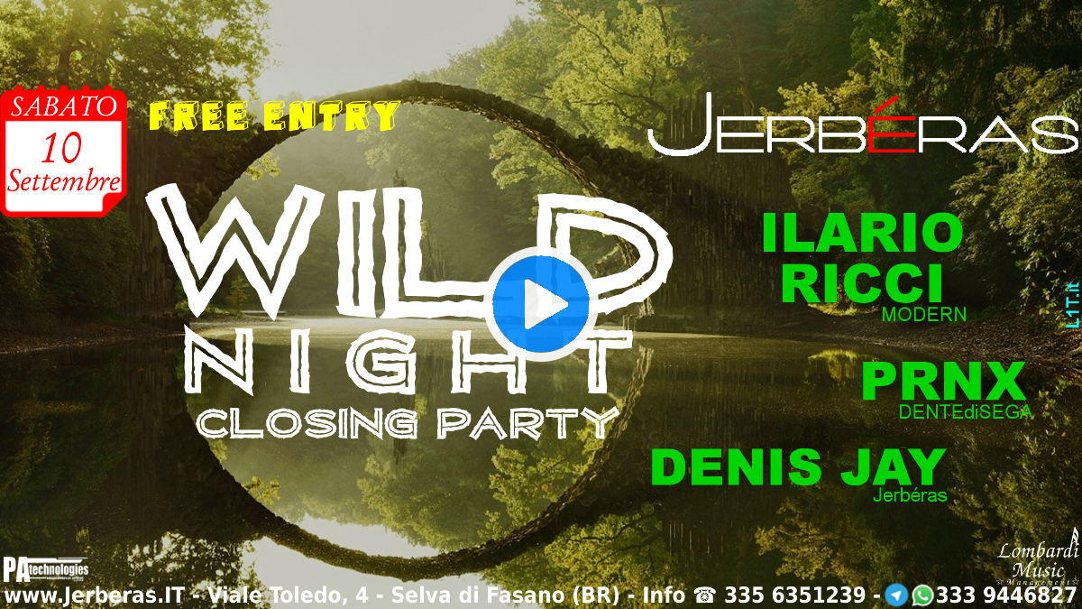Wild Night Closing Party @ Jerbéras - Banner