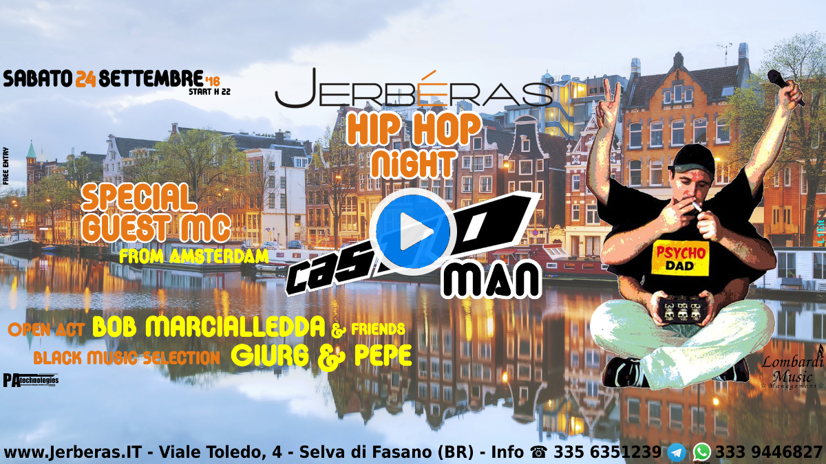 Jerbéras Hip Hop Night - Banner