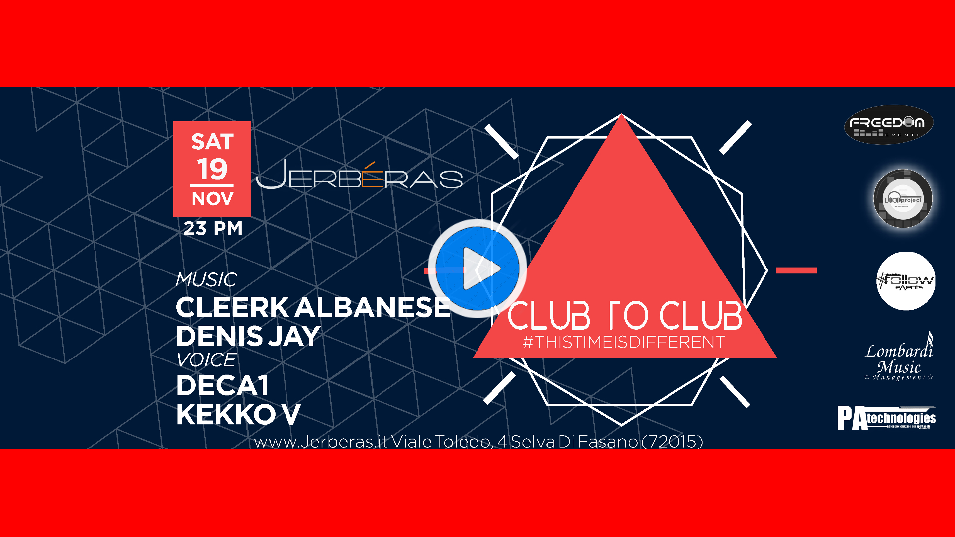 Club To Club This Time Is Different Jerbéras Banner