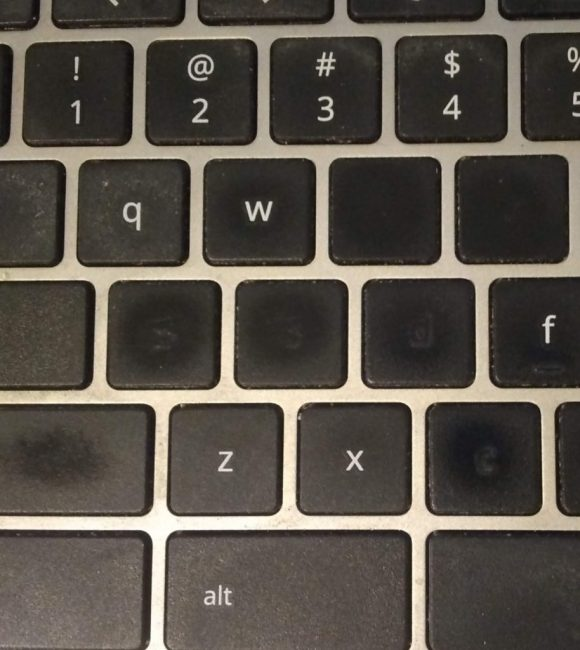 keyboard keys missing letters