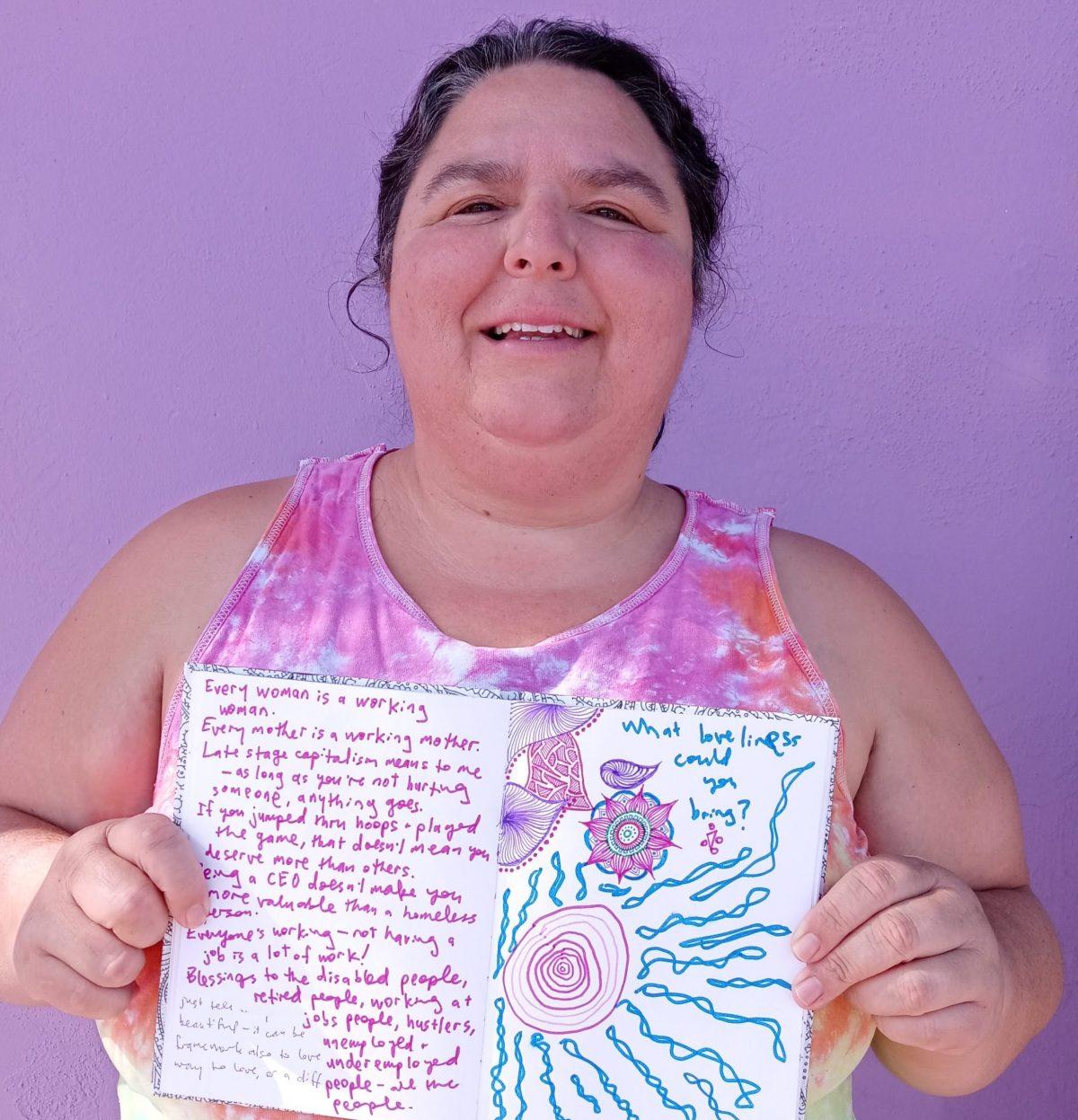 purple sketchbook