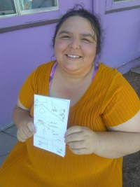 Laura-Marie with zine