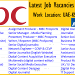 Huge Job Vacancies in MBC Group | Any Graduate/ Any Degree / Diploma / ITI |Btech | MBA | +2 | Post Graduates | DubaI,UAE,Saudi Arabia