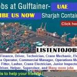 Huge Job Vacancies in Gulftainer-Sharjah Container Terminal@UAE