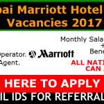 Huge Job Vacancies in Marriott International, Inc | Any Graduate/ Any Degree / Diploma / ITI |Btech | MBA | +2 | Post Graduates  | UAE