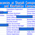 Latest Job Vacancies in Gulftainer-Sharjah Container Terminal 2020| Any Graduate/ Any Degree / Diploma / ITI |Btech | MBA | +2 | Post Graduates  | Sharjah ,UAE
