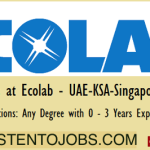 Official Job Vacancies in Ecolab@Dubai,Singapore,Malaysia,UAE