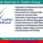 Latest Job Vacancies in Dolphin Energy Limited  | Any Graduate/ Any Degree / Diploma / ITI |Btech | MBA | +2 | Post Graduates | Abu Dhabi ,Qatar,UAE