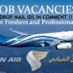 LATEST Job Openings in Oman Air 2020 | Any Graduate/ Any Degree / Diploma / ITI |Btech | MBA | +2 | Post Graduates |  Oman | Apply Online