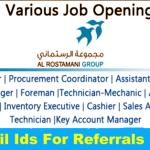 Latest Job Vacancies in The Al Rostamani Group 2020| Any Graduate/ Any Degree / Diploma / ITI |Btech | MBA | +2 | Post Graduates | UAE
