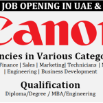 Latest Job Vacancies in Canon September 2017 | Any Graduate/ Any Degree / Diploma / ITI |Btech | MBA | +2 | Post Graduates | UAE,Qatar,UK