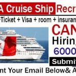Latest Cruise Ship Jobs in Canada 2021 |  Any Graduate/ Any Degree / Diploma / ITI |Btech | MBA | +2 | Post Graduates | Apply Online