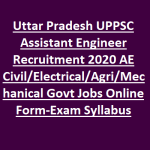 UPPSC recruitment 2020 | 692 posts | Assistant Engineer | All India Eligibility | UP Engineering Services Exam 2020 | Last Date 30th January 2020 | Apply Online ASAP