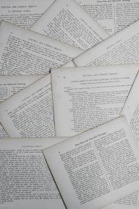 Papierseiten Fotokopien schwarzweiß