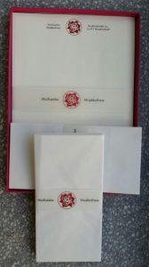 Briefpapier mit persönlichem Aufdruck - das perfekte Geschenk