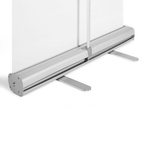 Roll-Up-Banner stabiles Fußteil aus Aluminium