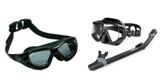 swimming goggles VS snorkel mask