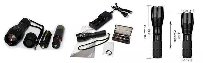 Details of SOLARAY Handheld LED Tactical Flashlight
