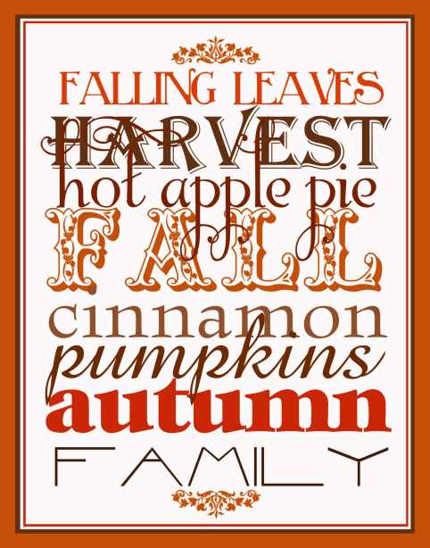 list of ideas to inspire you for fall:  food, family fun, decor, clothing, and holidays   ListPlanIt.com