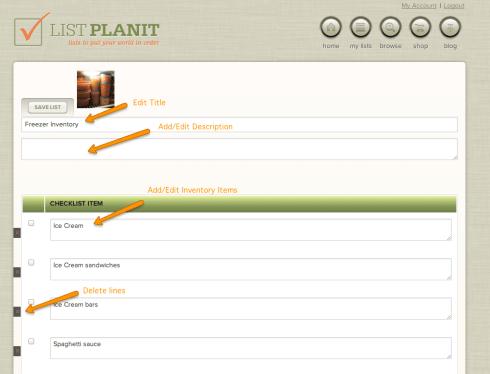 Creating a checklist a the new ListPlanIt.com