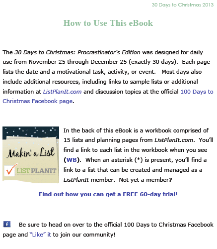 How to Use this eBook | 30 Days to Christmas: Procrastinator's Edition