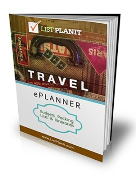Travel ePlanner: Budgets, Packing Lists, & Itineraries | ListPlanIt.com