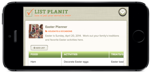 List Spotlight: Easter Planner