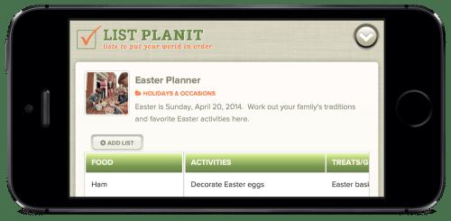 List Spotlight: Easter Planner