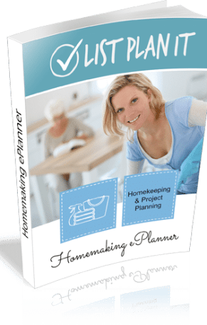 Homemaking ePlanner includes lists and worksheets for homekeeping and project planning. | ListPlanIt.com